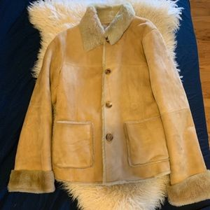 Authentic Shearling Coat Sz Small